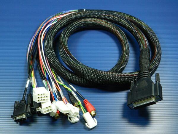 Z-001 HDB 44P To DB9P+ RCA+BNC+POWER HOUSING Cable